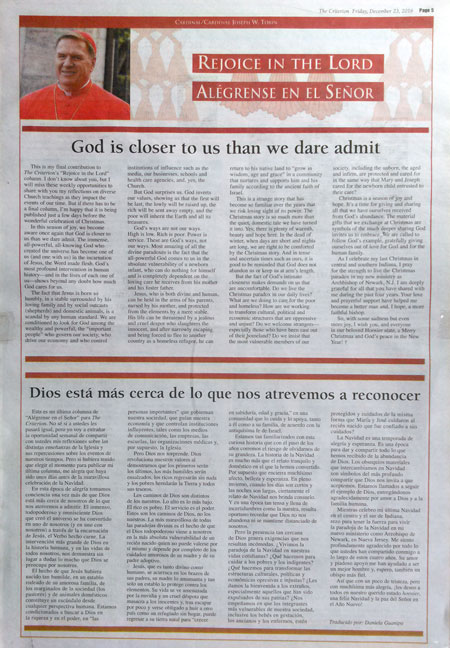 Rejoice in the Lord from The Criterion newspaper